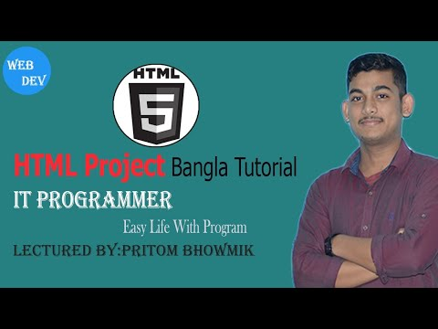 HTML Project-HTML (Part-6)- (Bangla Tutorial) thumbnail