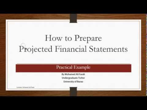How to Prepare Projected Financial Statements--Practical Example (Somali)