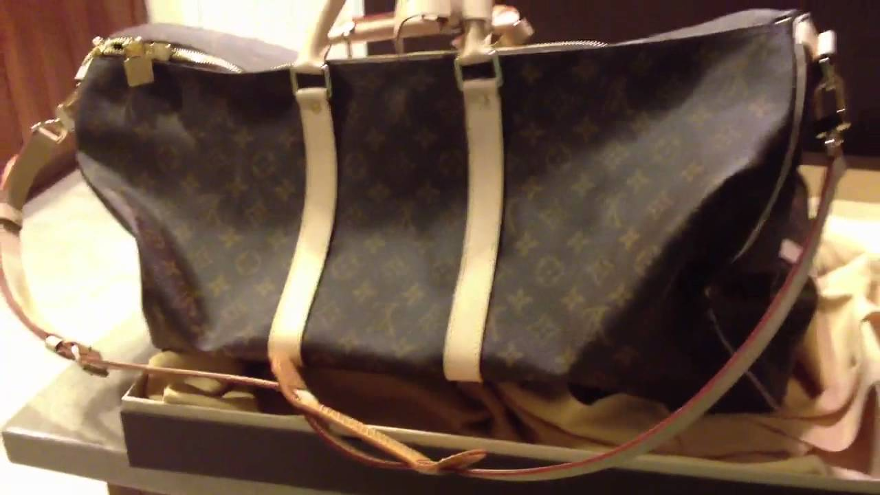 532c20c8ec8f Louis Vuitton keepall 55 luggage - YouTube