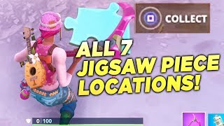 """Search Jigsaw Puzzle Pieces under Bridges and in Caves"" ALL 7 LOCATIONS! Fortnite Week 8 Season 8"