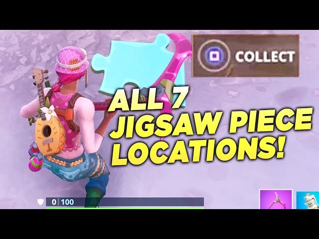 """""""Search Jigsaw Puzzle Pieces under Bridges and in Caves"""" ALL 7 LOCATIONS! Fortnite Week 8 Season 8"""