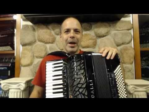 How to Play Brazilian Baião Music on Piano Accordion- Lesson 1 - Baião Groove