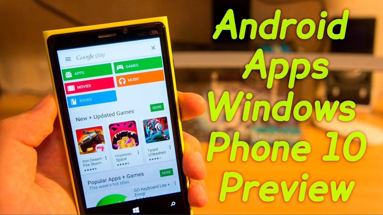 Phone Windows Phone And Android how to install android apps on windows phone 10 preview easy guide youtube