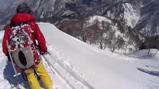 妙法山・くるみ谷右岸尾根で雪崩流される thumbnail