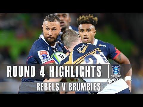 ROUND 4 HIGHLIGHTS: Rebels v Brumbies – 2019