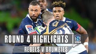 ROUND 4 HIGHLIGHTS: Rebels v Brumbies – 2019