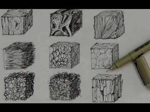 Pen and Ink Drawing Tutorials   How to create realistic textures