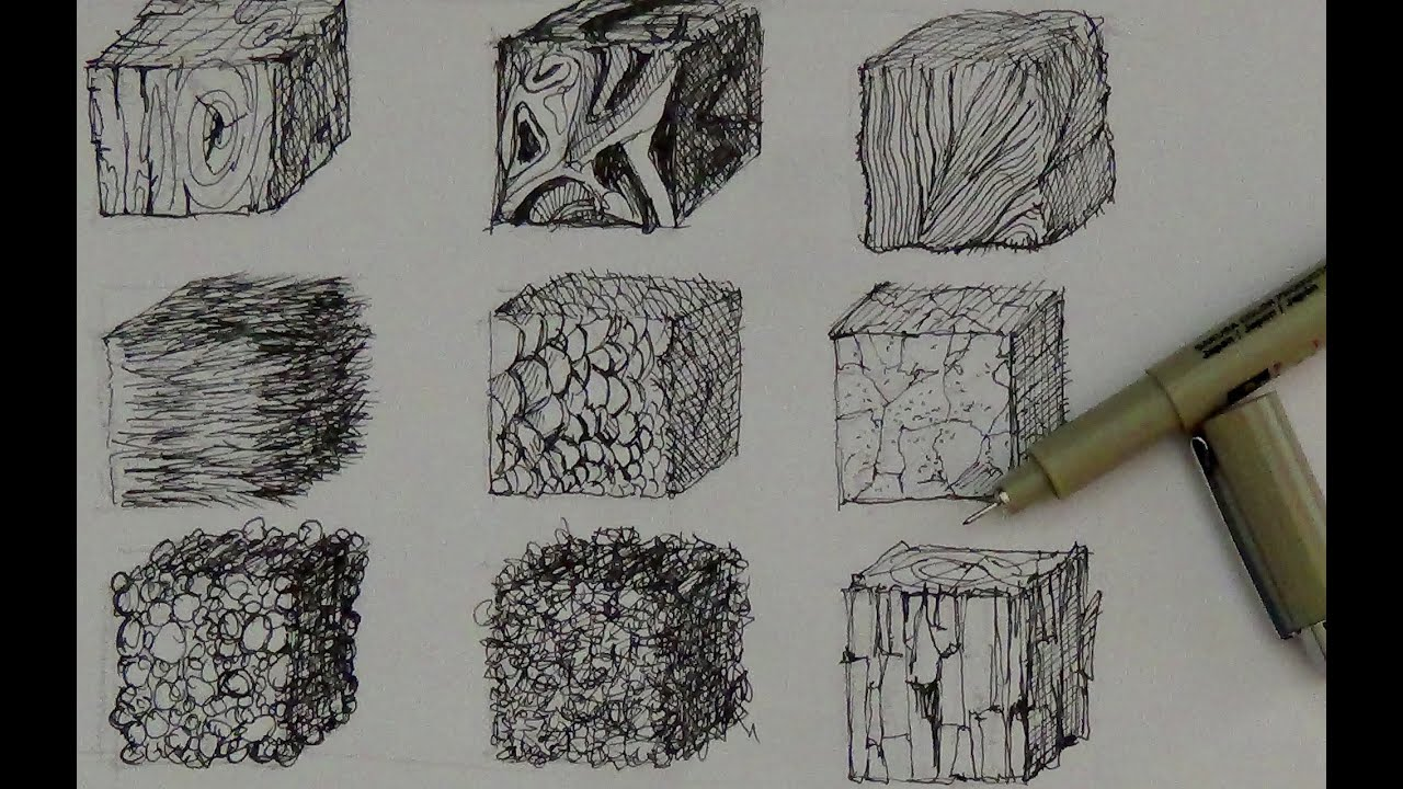 Drawing Scribble Technique : Texture drawing techniques pixshark images