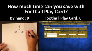 Football Play Card Bulk Create vs Drawing by Hand