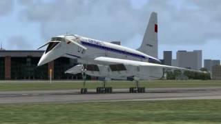 Aeroflot Tupolev TU-144S Landing at Paris-Le Bourget Airport
