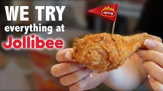 WE TRY EVERYTHING AT JOLLIBEE (MUKBANG)