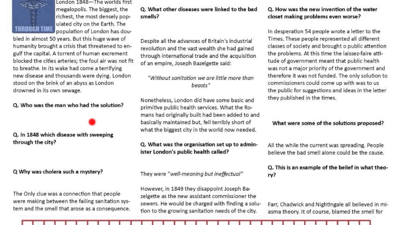 worksheet Cholera Worksheet seven wonders of the industrial world sewer king youtube king