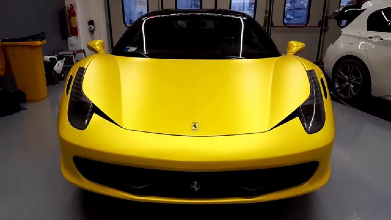 Sunflower Yellow Car Paint