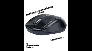 iBall FreeGo G18 Wireless Optical Mouse Black Unboxing and Review