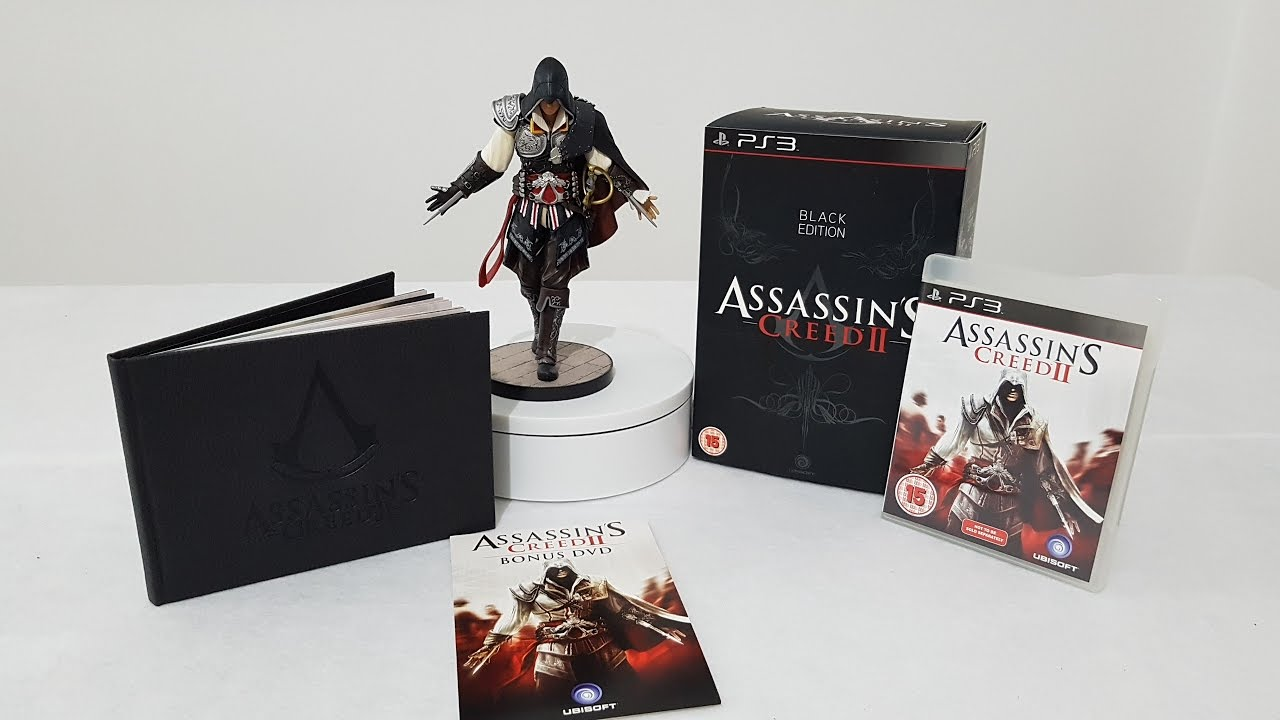 Assassins Creed II Black Edition Ps3 unboxing - YouTube