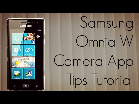 Samsung Omnia W Camera App Tips Tutorial - GT-I8350 Mobile Phone - PhoneRadar
