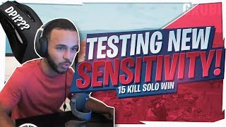 TESTING A NEW SENSITIVITY! 15 KILL SOLO (Fortnite BR Full Game)