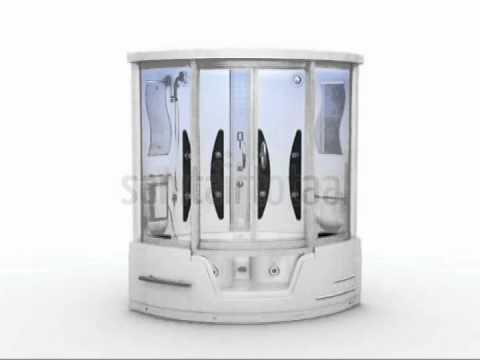 Stoomcabine met whirlpool b306b plash design youtube