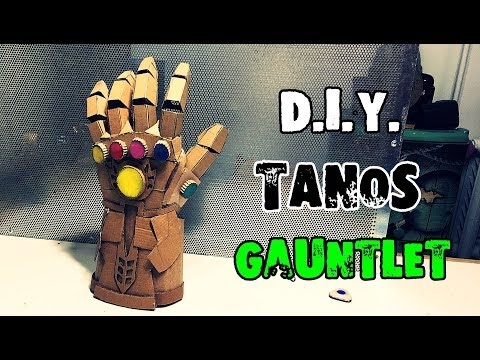 How to make Thanos Infinity Gauntlet Avengers from Cardboard