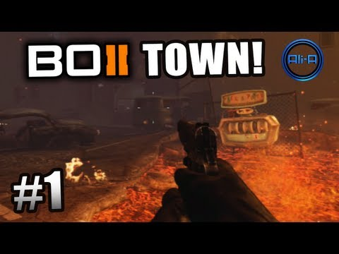 "Black Ops 2 ZOMBIES GAMEPLAY - ""TOWN"" Survival Live w/ Ali-A - Part 1 - Call of Duty BO2"