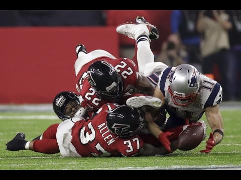 EDELMAN MAKES AMAZING CIRCUS CATCH  Patriots vs Falcons Super Bowl 51
