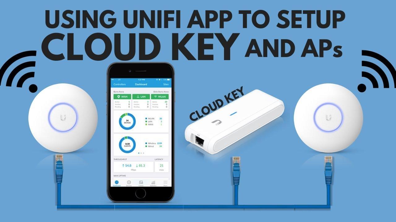 Using UNIFI App to setup CLOUD KEY and APs - 300+ users | English Version  2019