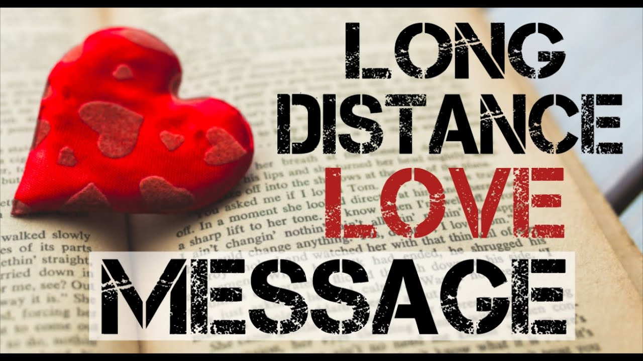 Distance love message for her