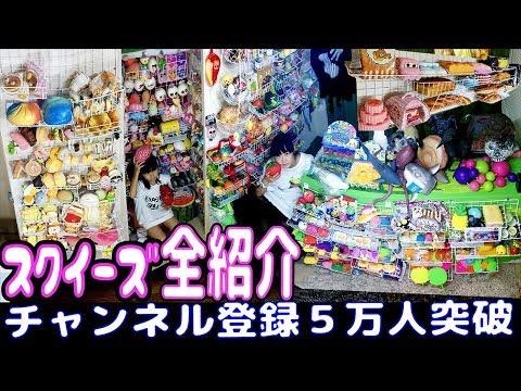 スクイーズ全紹介!チャンネル登録者5万人突破記念動画【のえのん番組】