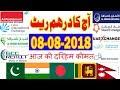 08-08-2018 UAE Dirham (AED) Rates - Hindi/Urdu | INDIA | Pakistan | Bangladesh | Nepal