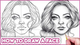 How to Draw Faces for Beginners  [ Basic Proportions ]