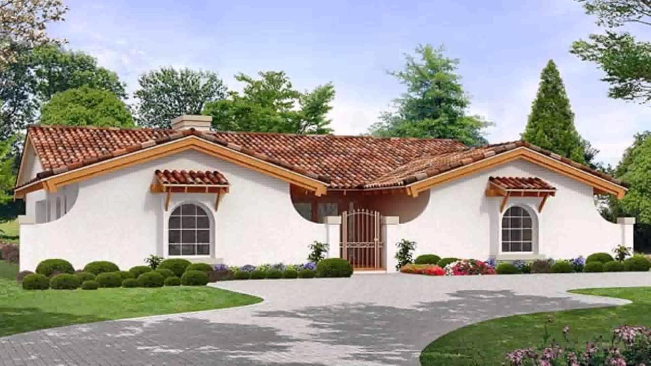 House plans hacienda style youtube for Hacienda style home plans
