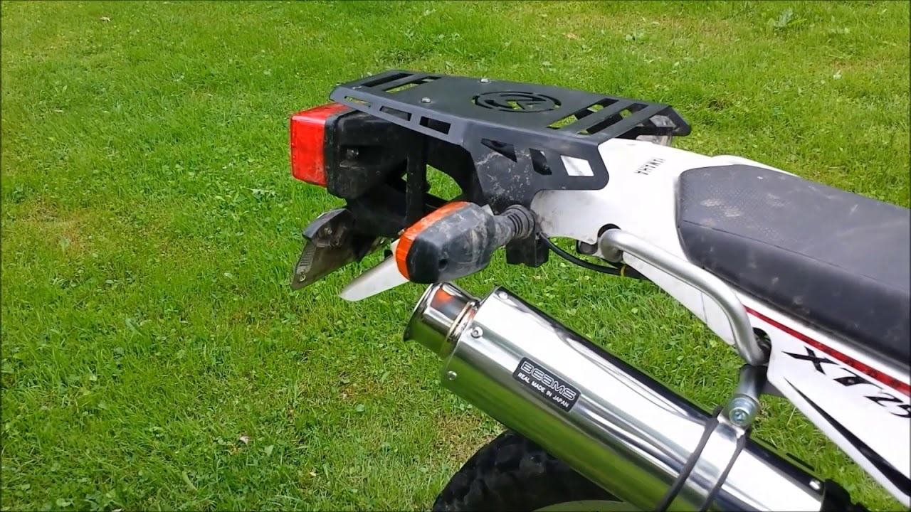 Yamaha XT250 with BEAMS SS 300 full exhaust    With Baffle in