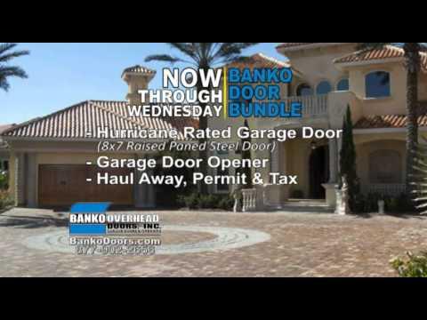 Banko Door Bundle - Garage Doors in T&a Florida & Banko Door Bundle - Garage Doors in Tampa Florida - YouTube Pezcame.Com