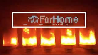 LAMPADINA LED EFFETTO FIAMMA FUOCO FLAME LIGHT BULB