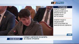 Нардеп Савченко не бачить за собою провини