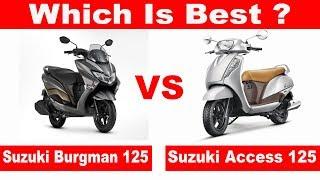 Guys, Is video me mene Compare kiya he Suzuki Burgman 125 ko Suzuki...