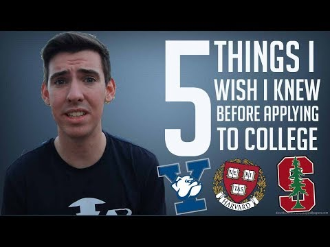 5 THINGS I WISH I KNEW BEFORE COLLEGE APPLICATIONS!!