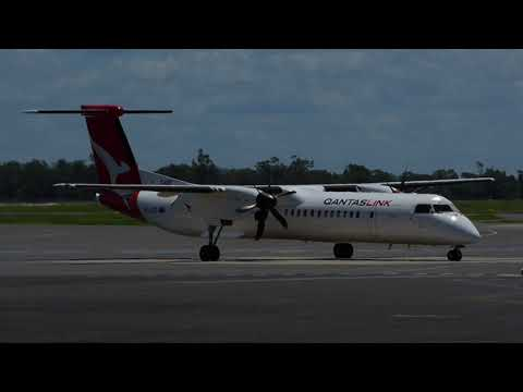 Freshly Painted Qantaslink DHC-402Q VH-QOD cranking up Full RPM