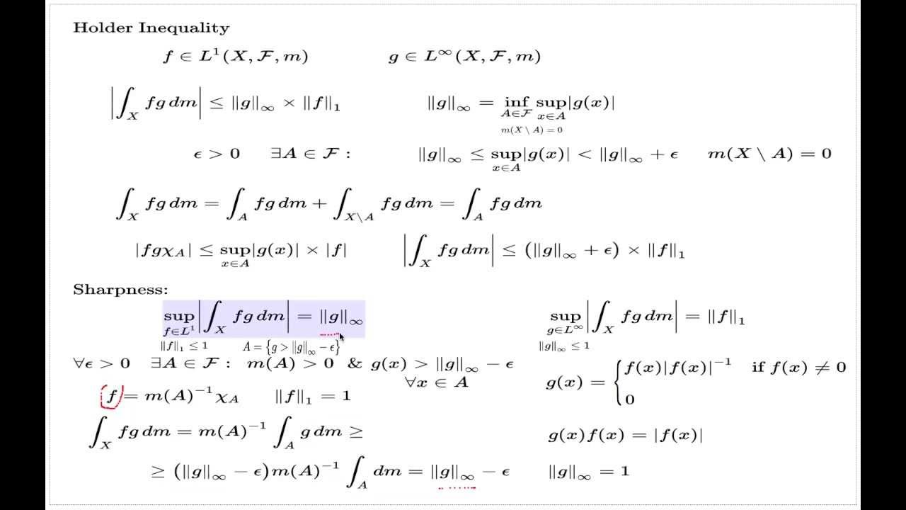 The Holder Inequality (L^1 and L^infinity) - YouTube