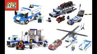 Лего Быстрая Сборка .Лего Сити Полиция Все Серии Подряд 4в1.Лего Полицейские и Транспорт .