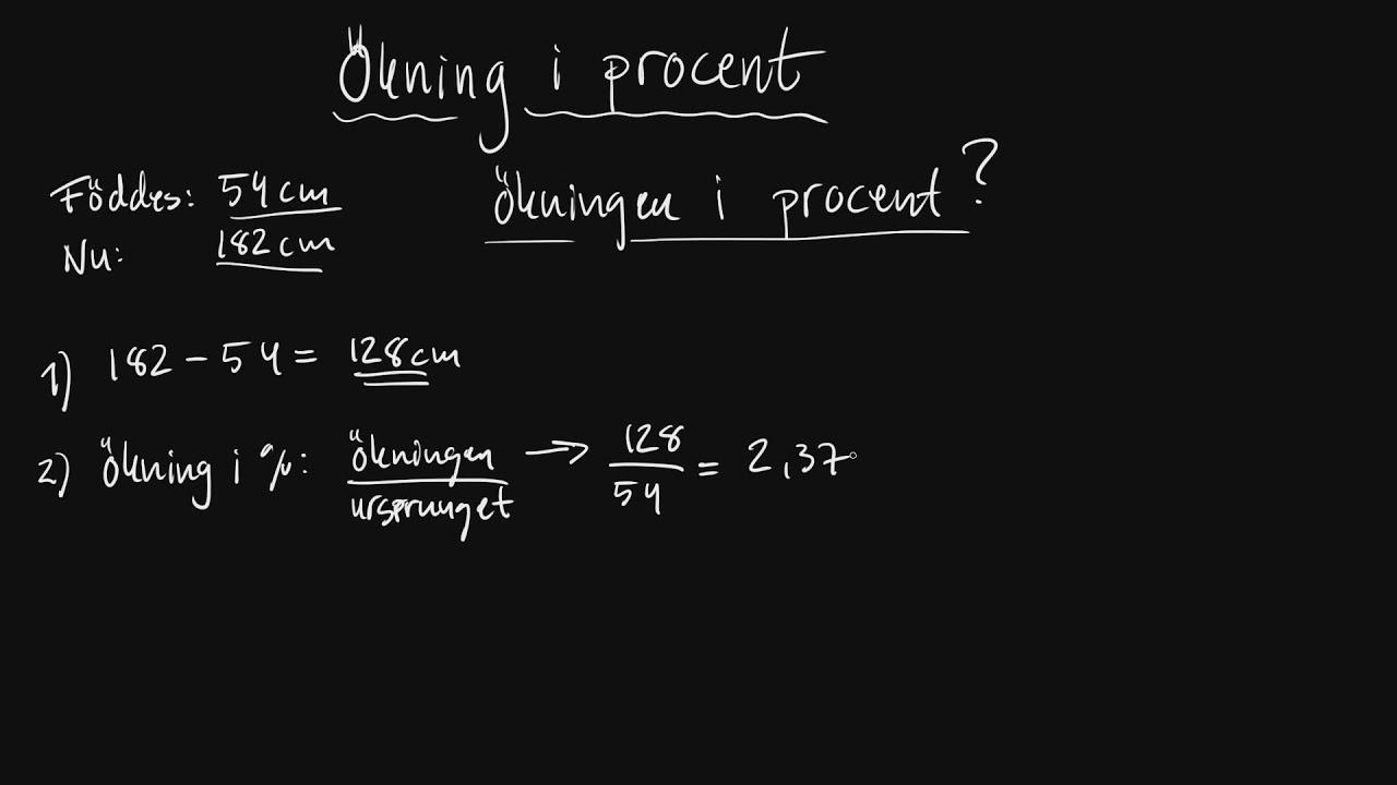 Räkna Procent
