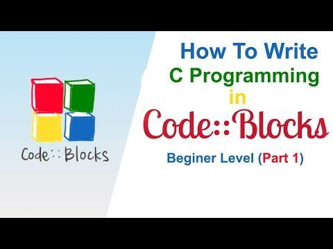How to write C programming in CodeBlocks IDE 2019 Beginer Level Part 1 thumbnail