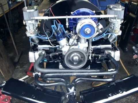 2110cc Vw Type 1 New Build Engine Running On Stand