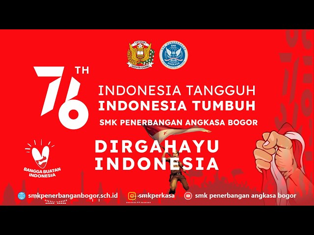 UPACARA HUT RI KE-76   SMK Penerbangan Angkasa Bogor   Lanud Atang Sendjaja