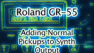 Roland GR-55 Using Normal Pickups - Tutorial - Advance Programming with Delay - Guitar Synthesizer