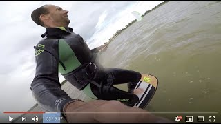 Strapless Freestyle foil kiteboarding