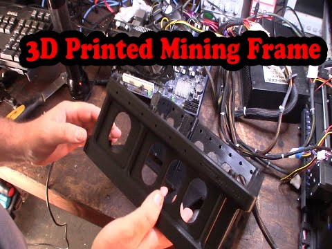 3D Printed Crypto Mining Frame  Modular Compact GPU Miner Rig Part 1