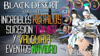 Black Desert - 150 DOLARES EN PERLAS PARA TODOS! | SUCESION VALQUIRIA Y TAMER | EVENTOS DE NAVIDAD