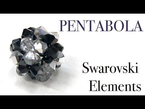 ba8527545779 Abalorios - Pendientes Pentabola de Swarovski - YouTube
