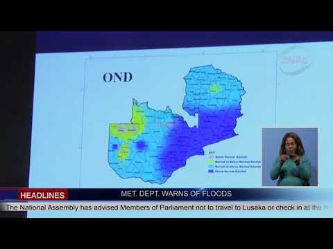 ZAMBIA TO EXPERIENCE FLOODS